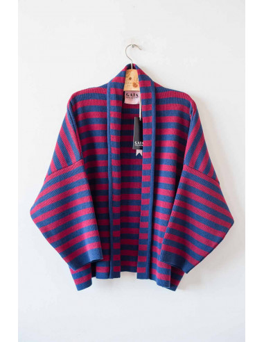 Coco Cardi - Navy and Currant Red -...
