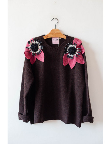 Bloom Sweater - Espresso with...