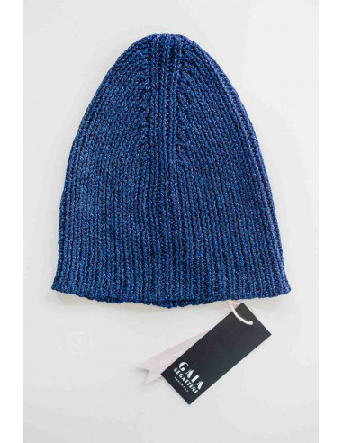 Glam beanie - Royal blue Lurex