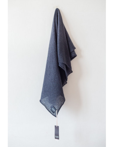 Forever - Square Mohair scarf - Coal...
